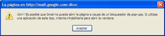 Grr!! Error en Gmail